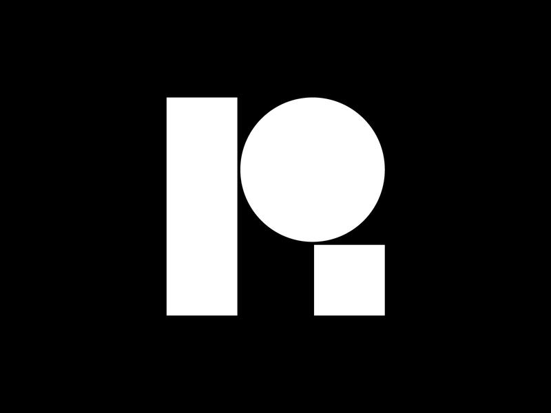 R monogram / New personal symbol mark designer design branding brand minimalistic minimalist minimal logotype logo symbol monogram r