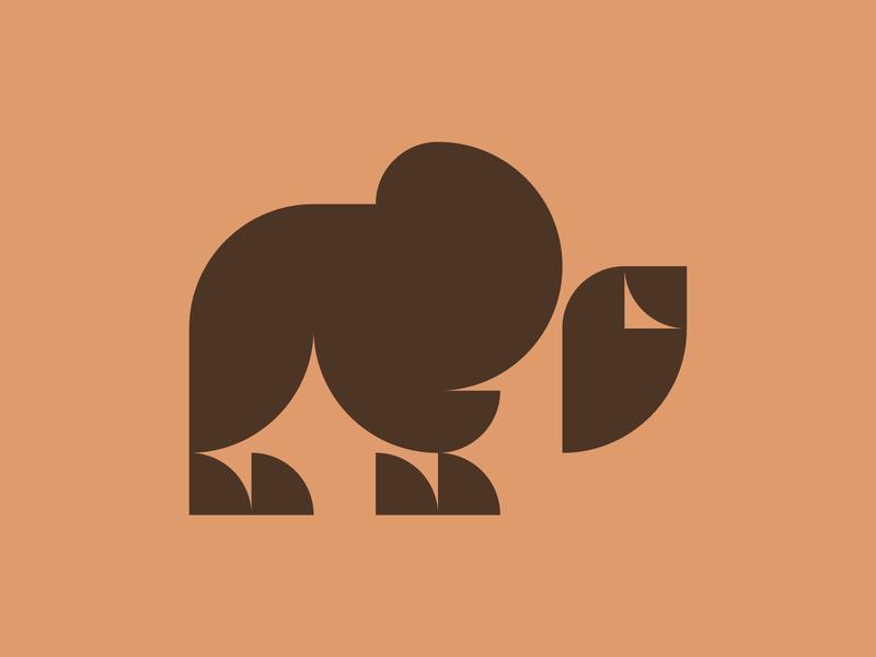 Bison mark symbol logotype logo design geometric design minimalist minimalistic minimal geometric animal bison