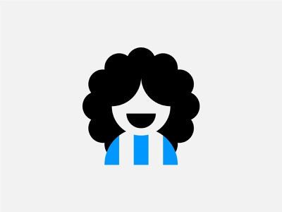 Maradona portrait geometric simple argentina diego football club minimalism minimalistic minimal illustration football maradona