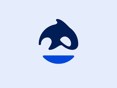 O + Killer whale illustration logodesign design simple minimalism minimalistic minimalist minimal whale animal symbol logotype logo monogram killer whale
