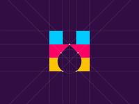 H + Ink drop ─ Grid