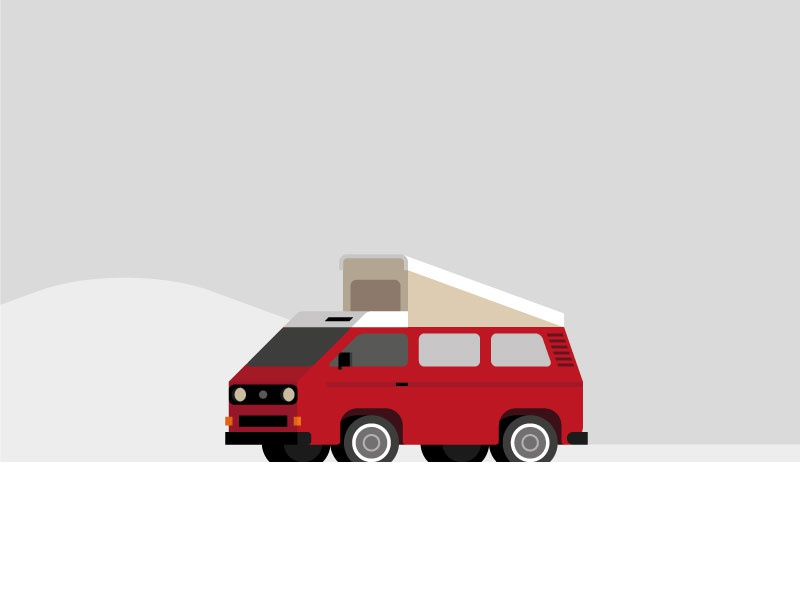 VW T3 minimalistic design minimalistic illustration camper van vw van van camper westfalia t3 volkswagen vw