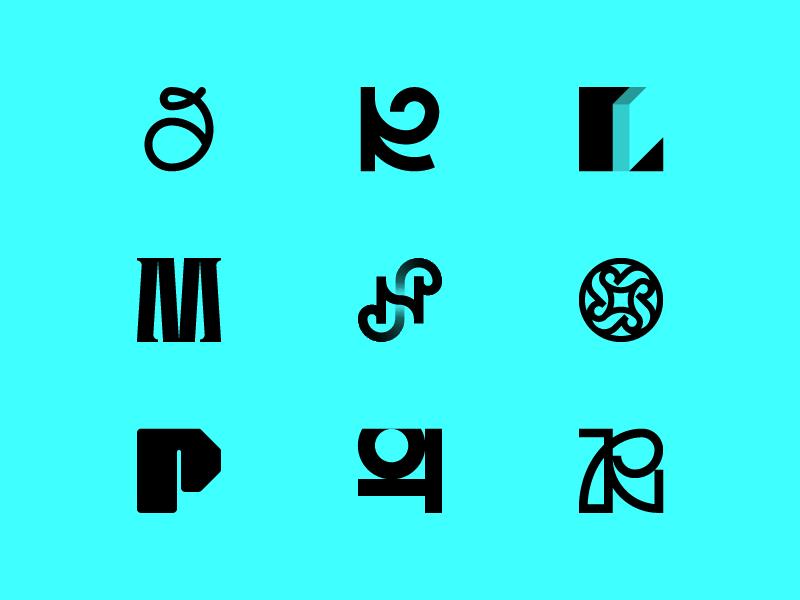 36 Days Of Type — 9.2 36days 36daysoftype redesign minimalistic minimal logotype logo monogram mark letter r q p o n m l k j