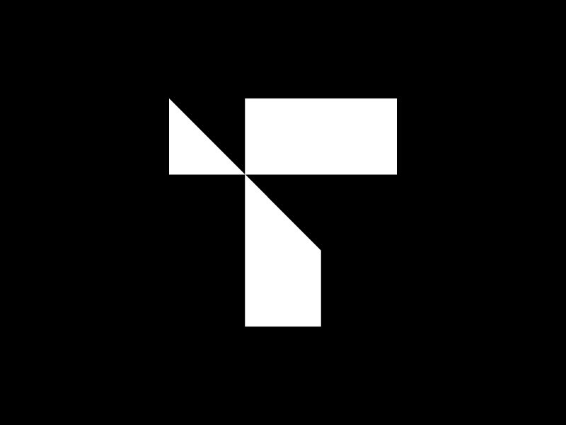 T — 36 Days Of Type icon isotype mark 36days-t 36daysoftype-t 36daysoftype design minimalistic minimal logotype logo monogram type letter t