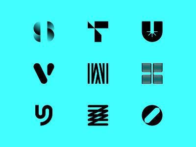 36 Days Of Type — 9.3 36daysoftype minimalism minimalist monogram brand design logotype logo mark letter number 0 z y x w v u t s