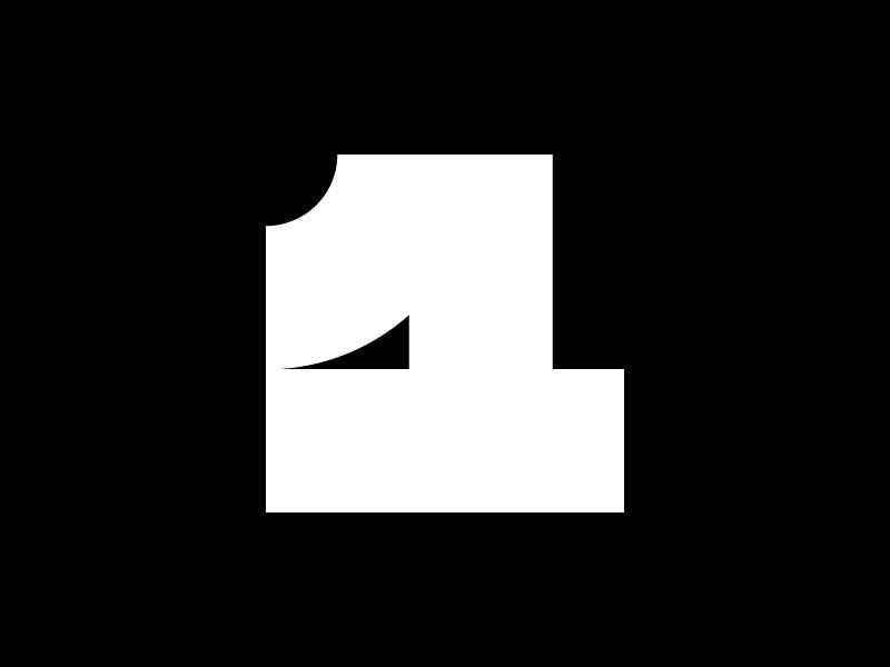 1 — 36 Days Of Type 36days-1 36daysoftype isotype mark brand 1 color simple minimalist minimalism minimalistic minimal design logotype logo monogram number 1