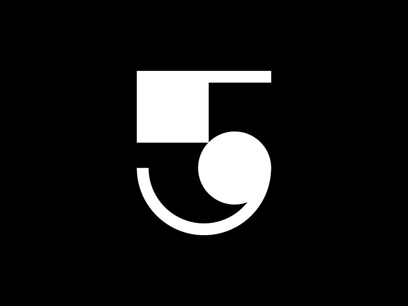 5 — 36 Days Of Type 36days-5 36daysoftype-5 vector illustration icon brand mark 36daysoftype simple minimalistic minimalism minimalist minimal monogram logotype logo design type number 5
