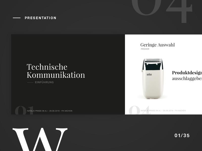Presentation slide interface communication card web photoshop sketch ui ux white black presentation