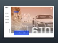 Audi R8 orange design ux interface sketch website web card r8 audi car automotive