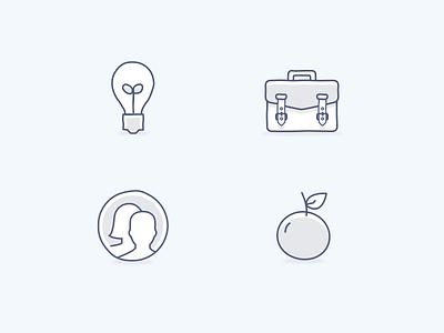 Highlight icons light grey charcoal light blue light dropbox illustration icons