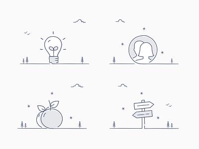 Highlight icons illustrated icons illustration dropbox light light blue charcoal light grey