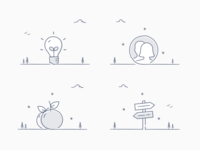 Highlight icons illustrated