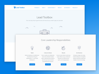Landing page illustration white light blue dropbox