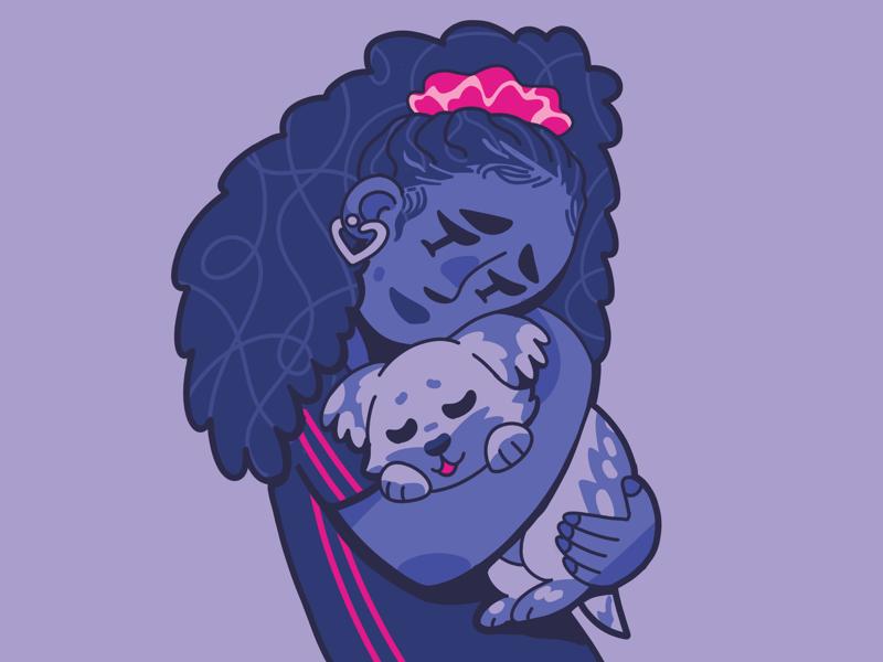 Adoption love pets dog illustration adoption pet