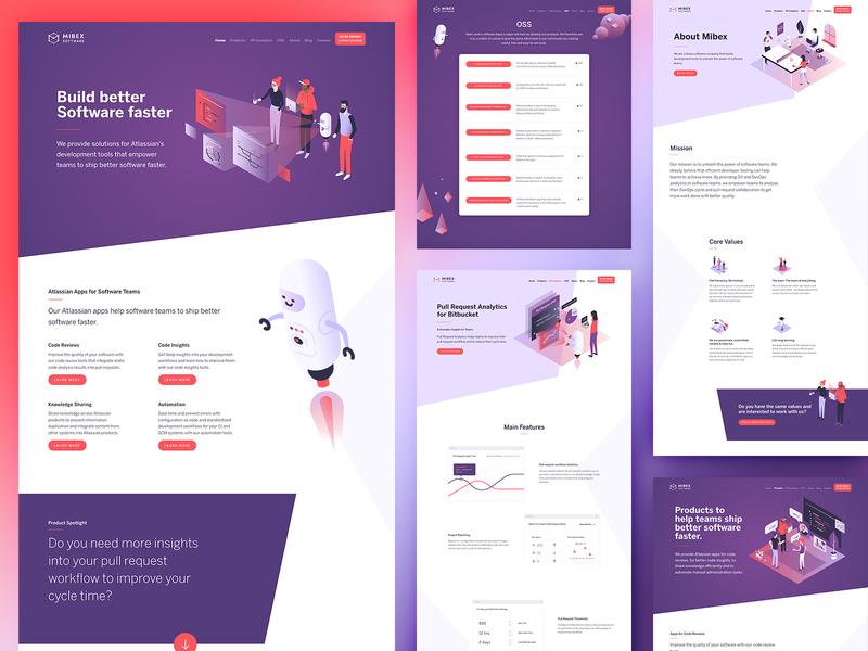 Mibex 2020 robot branding website illustration