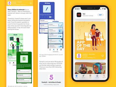 Family 5 - app of the day apple app store app of the day branding app app design ui illustration