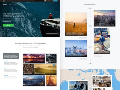500px About page