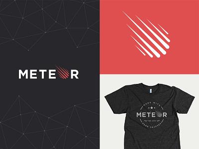 Meteor Branding meteor brand branding logo space fractal t-shirt