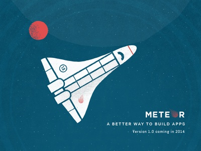 Meteor Poster meteor poster space shuttle rocket planet
