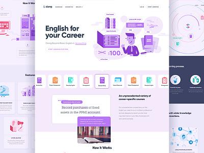 Slang app website and illustration illustration app website translation language slang