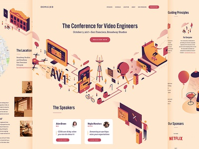 Demuxed 2017 conference video website demuxed illustration