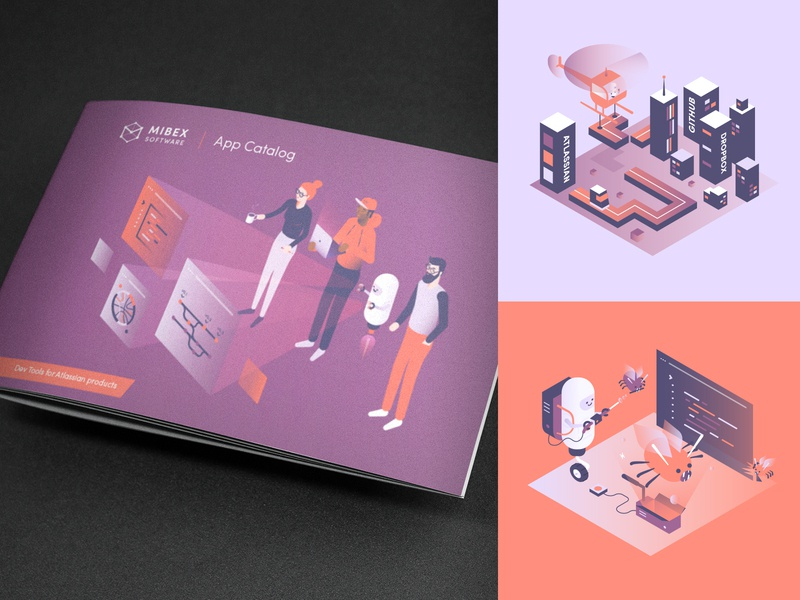 Mibex Brochure 2019 brochure design vector mibex illustration