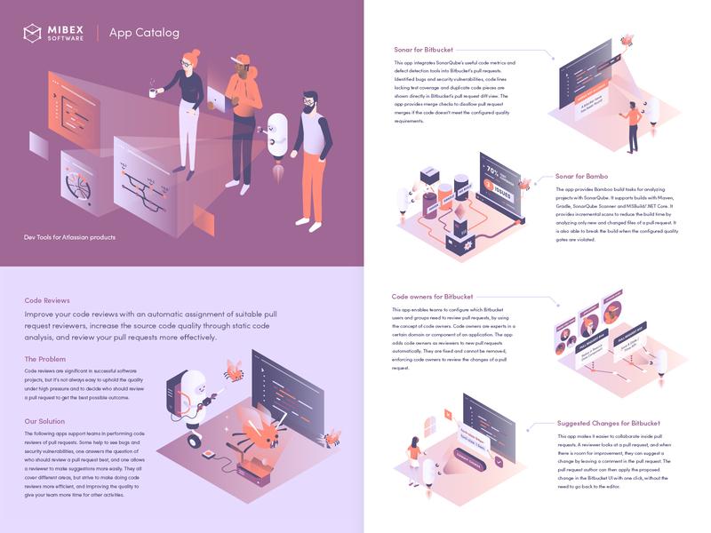 Mibex Brochure 2019 isometric brochure vector illustration
