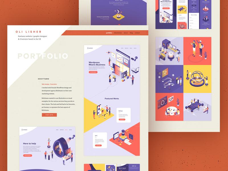 Portfolio update web design typography ux website icon vector portfolio design portfolio texture ui illustration