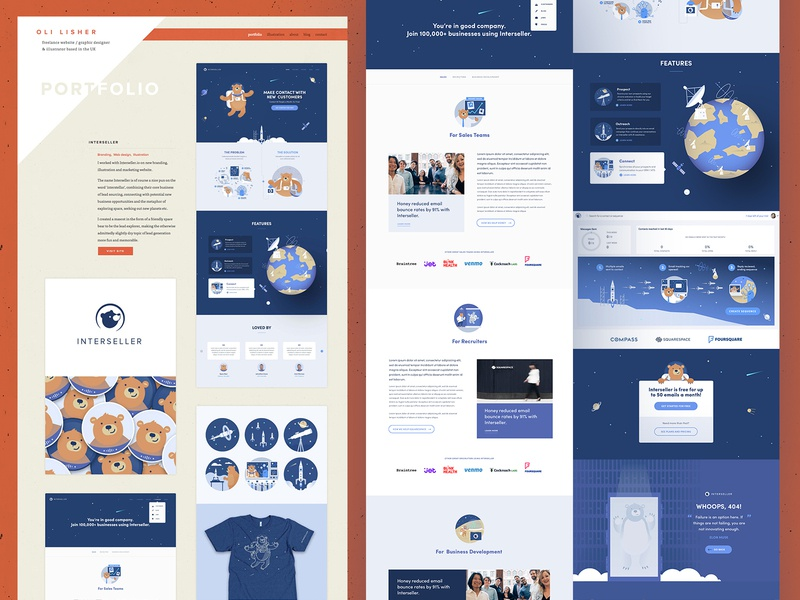 Portfolio update - Interseller web branding ui website illustration