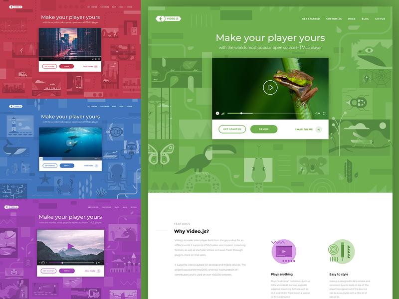 Video JS video design branding website illustration