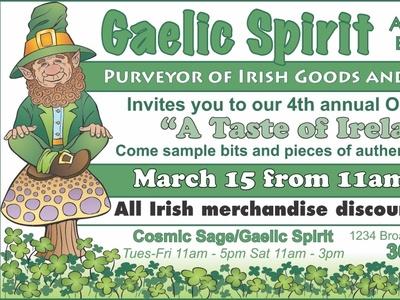 Gaelic Spirit Ad leprachaun design advertisement irish