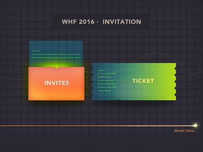WHF 2016 INVITATION  illustration security whf edm ticket invitation