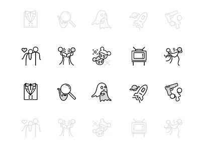 Movie Categories  movie ui app illustration icon