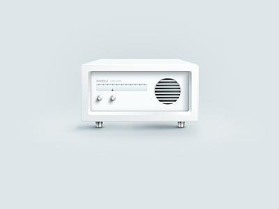 Illustration   Radio Z skeuomorph illustration radio