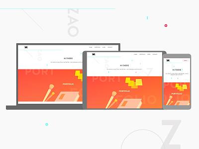 Personal Website web design web portfolio
