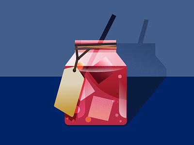 A bottle of Beverage summer illustration drink baverage