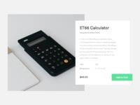Minimal Braun Calculator Product Card