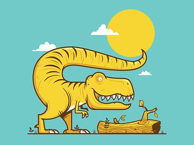 Tyrannosaurus Rex sun bird tyrannosaurus rex tyrannosaurus design character flat art 2d illustrator vector illustration