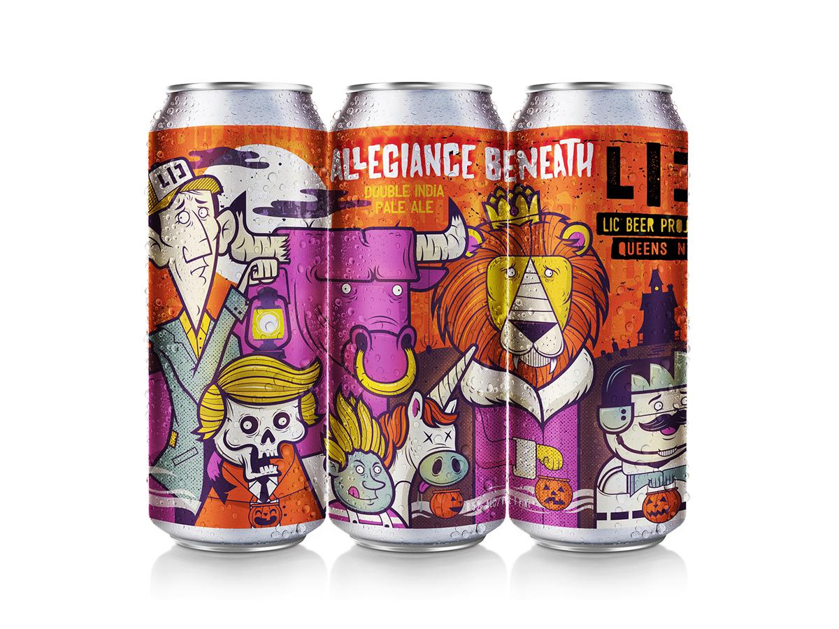 LIC - Allegiance Beneath package design craft beer beer vector design branding character illustrator illustration