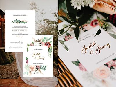 Wedding Invites for Judith & Jonny invitation wedding card wedding stationery wedding invites