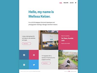Personal Website personal portfolio blog colours grid squares adelle sans