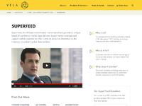 Vela product page