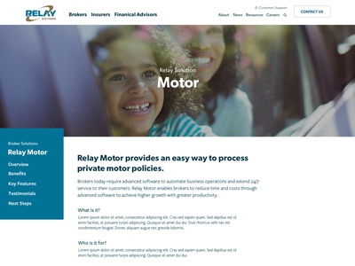 Relay Motor for Brokers - Solution Page