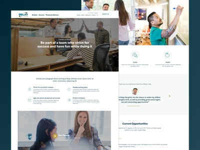 Relay Careers jobs icons careers blue relay software corporate