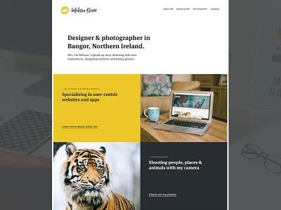 Fresh Personal Site developer photographer designer dutch clog personal website blog portfolio personal