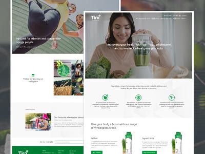 Health Shots Homepage & Blog wheatgrass shop ecommerce green prometo website homepage health