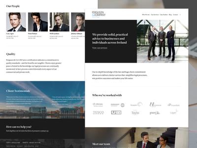 Ferguson & Co Solicitors - Corporate Website freight website solicitors law fim lawyer corporate