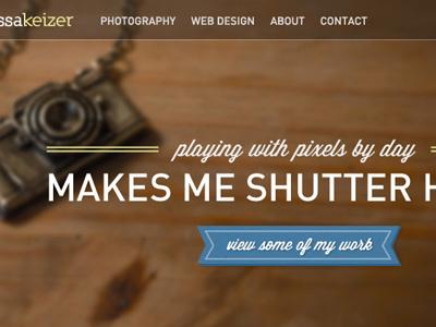 new portfolio site portfolio photography web designer camera dinpro wisdom script personal image background