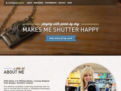 new portfolio site - now live portfolio web designer photography wood camera image background dinpro wisdom script