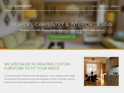 Vision Carpentry responsive header website image fader proxima nova eurostile light font image background full width slider